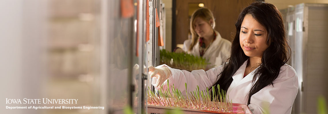 Women conducting seedling research